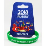 Чемпионат мира по футболу 2018 браслет зеленый, резиновый