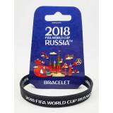 Чемпионат мира по футболу 2018 браслет черный, резиновый