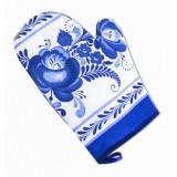 Текстиль рукавица Гжель