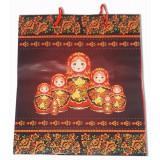 Упаковка пакет-сумка, русский сувенир, бумажный 21x18