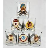 Посуда набор бокалов для виски с символикой  СССР 6 шт.