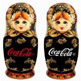 Матрешка по заказу клиента 1 место 10 см, с логотипом Кока-Кола