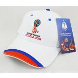 Чемпионат мира по футболу 2018 бейсболка с символикой ЧМ 2018, белая