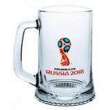 Чемпионат мира по футболу 2018 ЧМ2018 Кружка стеклянная для пива...
