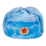 Головной убор шапка меховая искусственный мех голубой в асс.разм.