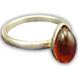 Янтарь кольцо в оправе 0030665-1