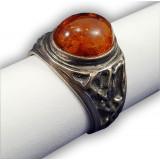 Янтарь кольцо в оправе П 0031032
