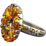Янтарь кольцо в оправе П 0031031-1