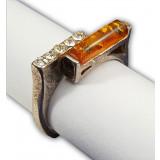 Янтарь кольцо Фонарик