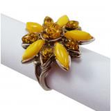 Янтарь кольцо Цветок
