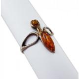 Янтарь кольцо Пчелка