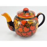 Хохлома сувенирная чайник заварной керамический