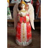 Новый Год и Рождество резная деревянная игрушка Ангел