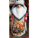 Новый Год и Рождество резная деревянная игрушка Дед Морз,...