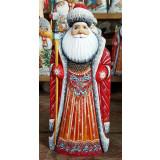 Новый Год и Рождество резная деревянная игрушка Дед Мороз большой 29