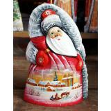 Новый Год и Рождество резная деревянная игрушка Дед Мороз, Зима 17