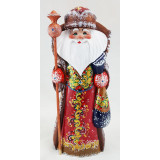 Новый Год и Рождество резная деревянная игрушка Дед Мороз c...