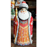 Новый Год и Рождество резная деревянная игрушка Дед Мороз, 22...