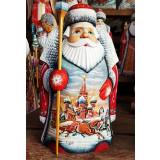 Новый Год и Рождество резная деревянная игрушка Дед Мороз...
