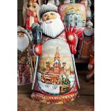 Новый Год и Рождество резная деревянная игрушка Дед Мороз,...