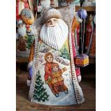 Новый Год и Рождество резная деревянная игрушка Дед Мороз с...