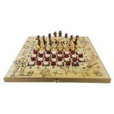 Шахматы Рыцари,  набор три в одном: шахматы, шашки, нарды
