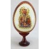 Товары к Пасхе яйцо-икона, Святой Николай Угодник, 11х5