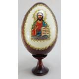 Товары к Пасхе яйцо-икона, Спас нерукотворный, 11х5