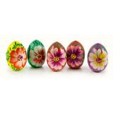 Яйцо пасхальное деревянное цветы майдана, в ассортименте, 7 см.
