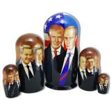 Матрешка политические лидеры Путин и Трамп, 5 мест