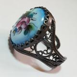 Финифть кольцо Перстень чернение