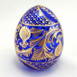 Яйцо пасхальное стеклянное большое синее