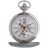Часы карманные посереб. скелетон, Полет 2131879
