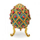Копия Фаберже 4804 яйцо шкатулка, голубое
