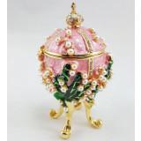 Копия Фаберже 2987-004 яйцо шкатулка, розовое, 8