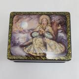 Шкатулка лаковая с элементами ручной росписи Снегурочка 11 на 9