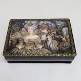 Шкатулка лаковая с элементами ручной росписи Маскарад 15 на 11