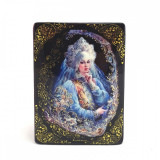 Шкатулка лаковая с элементами ручной росписи Барыня, 10 на 8
