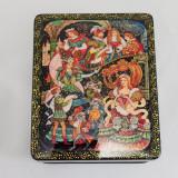 Шкатулка лаковая с элементами ручной росписи Золушка, 10 на 8
