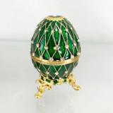Копия Фаберже 4326 яйцо шкатулка, зеленое, 8