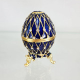 Копия Фаберже 4326 яйцо шкатулка, синее, 8