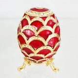 Копия Фаберже 3193-002 яйцо шкатулка, красное, 8