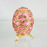Копия Фаберже 3193-002 яйцо шкатулка, розовое, 8