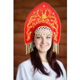 Русский народный костюм КОКОШНИКИ Кокошник Анна АНН-00-01-00, 16 см