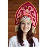 Русский народный костюм КОКОШНИКИ Кокошник Анна АНН-00-10-00, 16 см