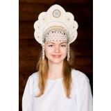 Русский народный костюм КОКОШНИКИ Кокошник Елена ЕЛЕ-00-09-00, 12,5 см