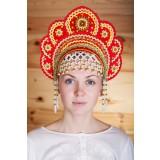 Русский народный костюм КОКОШНИКИ Кокошник Елена ЕЛЕ-00-01-00, 12,5 см