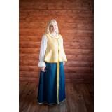 Русский народный костюм синий с золотом, р. 52-54