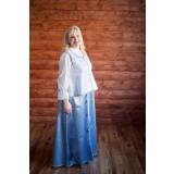 Русский народный костюм голубой с серебром, р. 52-54