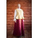 Русский народный костюм бордо с золотом, р. 52-54